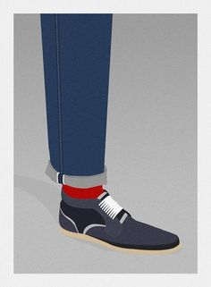 Hello 1986 » Dagobert #illustration #1986 #shoes #hello