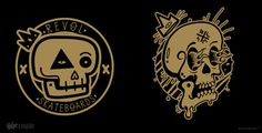 BRAND LOGOS / EMBLEMS 12/13 on Behance #emblems #logos #skulls