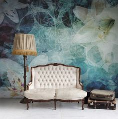 CJWHO ™ (Botanical plants wallpaper) #botanical #plans #design #interiors #illustration #furniture #art #fashion #wallpaper