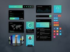 This is a sample of GreenLight, a useful #interface kit that you can use to quickly #mockup web or #mobile interaction patterns. The kit bei