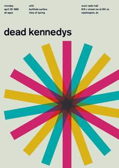 Good colours and overlays #colour #poster #dead kennedys