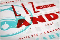Andy & Liz Wedding Invitation - FPO: For Print Only #wedding #invitation