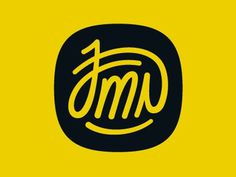 Dribbble - My Signature by Joaquim Marques Nielsen #monogram #type #logo