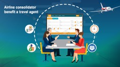 How does an airline consolidator benefit a travel agent?