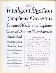 Goudy Cursive type specimen