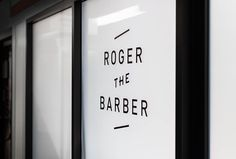 Roger The Barber by Cast Iron Design #glass print #branding