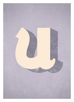 Alphabet Typo Art Print Modern typography wall by NeueGraphic