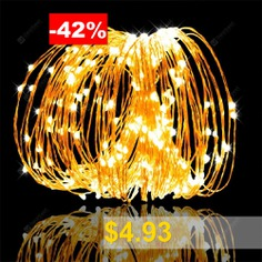 5-10m #50-100 #LEDs #String #Lights #Copper #Wire #USB #Operated #Waterproof #Decorative #Fairy #Starry #Lights