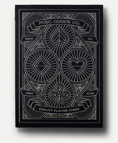 Awesome playing cards design.