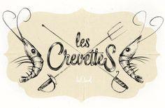 LES CREVETTES by Mateusz Chmura #design #graphic #typography
