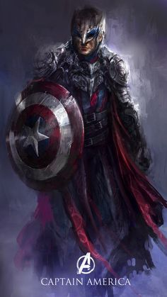 Best Redesign Superheroes of Captain America #character design #superheroes