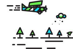 Pretty fly... Animation #animation #badge #line #tree #icon #type #texture #illustration #plane #gif #logo #detail