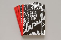 Piano Annual Brochure | Sara Westermann #drawn #brush #type #hand #typography