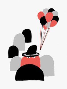 Silver Screen Sociedad #illustration #red #black