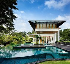 Tropical Bungalow-Inspired Residence in Singapore by Guz Architects #singapore #architecture #bungalow