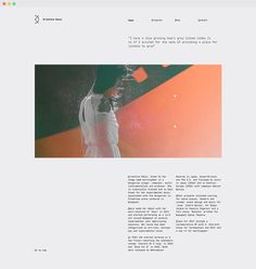 Portfolio for Krisztina Danyi @ The visual work of Tamas Horvath #portfolio #layout #design #website #webdesign #minimal #grid #identity #on