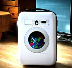 Washing Machine Suitcase by Suitsuit #tech #flow #gadget #gift #ideas #cool