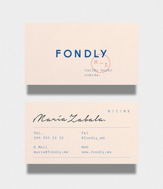 Minimal Business Card Fondly