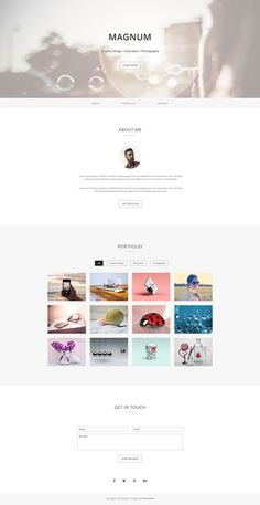 Magnum - Free Personal Portfolio Template #template #responsive #portfolio #html #bootstrap #minimalist #onepage