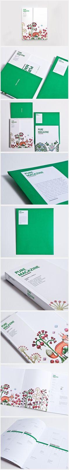 Pure Magazine #brand #identity