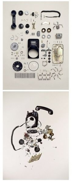 Disassembled Retro Items Photography by Todd McLellan » Design You Trust – Social design inspiration! #phone #retro