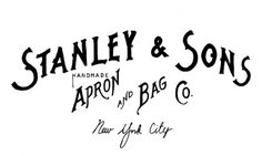Stanley & Sons #logo #drawn #typography