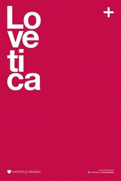 Lovetica - Love Everything Helvetica on the Behance Network #swiss #lovetica #derek #gangi #blog #helvetica #typography