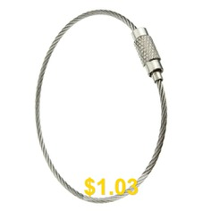 Outdoor #Camping #Stainless #Steel #Wire #Rope #- #SILVER