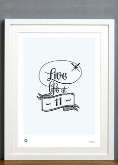 Turn it to 11 #print #illustration