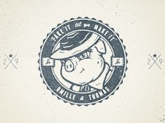 Dribbble - Umille & Thomas by Nathan Walker #vector #clothing #nathan #pig #lockup #atpc #grunge #logo #walker
