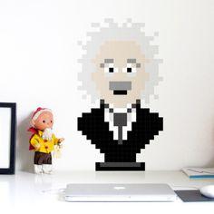 Puxxle · Albert #puxxle #albert #decor #puzzle #pixel #bust #einstein #wall #art #decoration #8bit