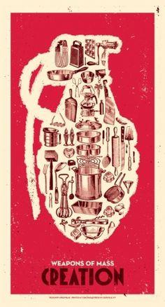 // The Chic-Type Blog #creative #silkscreen #weapon #print #retro #mass #poster #creation