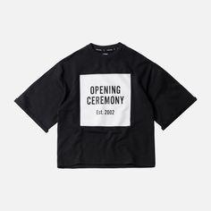 Opening Ceremony Logo Cut-Off Sweat Tee - Black