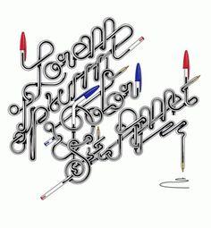 Typography on the Behance Network #biro #ipsum #trochut #lorem #typography