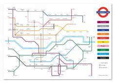 Type Tube : halftonesandheadphones.com #underground #map #typography