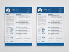 Clean Blue - Free Clean Blue Resume Template in Illustrator Format