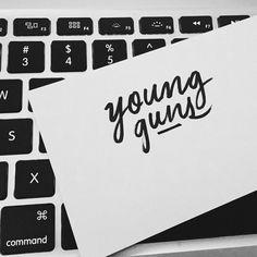 Young Guns by Jordan Lyle #lettering #white #jordan #design #black #lyle #and #typography
