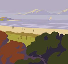 #Pembrokeshire #Coast #National #Park #Film #Season #Poster #Campaign #Illustration