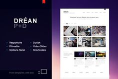 Dréan theme #design #theme #minimal #webdesign #wordpress