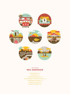 DKNG Wes Anderson films #illustration #wes #films #anderson