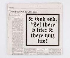 nyt-bible.jpg (JPEG Image, 700×578 pixels) #lettering #letters #design #black #type #layout #typography
