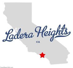 Map of Ladera Heights California CA #design #california #typography