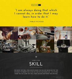 CraftsmanAve - Learn a New Skill #chalk #ui #website #vintage #landingpage #craftsman