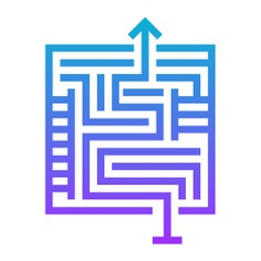 See more icon inspiration related to exit, way, labyrinth, maze, business and finance, solution, puzzle, education and road on Flaticon.