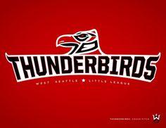 West Seattle Little League - danlustig.com #vector #seattle #sports #thunderbirds #baseball #logo #typography