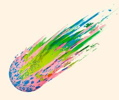 Paint Meteor - This happens all the time. #design #graphic #meteor #paint #illustration #colour