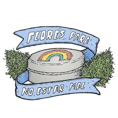"""Flowers to be fine"" #illustration #tomatesoup #flowers #rainbow #weed"
