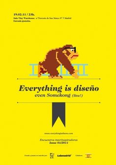 Everything is diseño | Encuentros interinspiradores #donkey #kong #poster