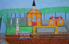 Museumzondag, -kunst om weer in te kunnen geloven- #naive #illustration #painting