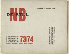 MoMA | The Collection | Unknown Artist. De Stijl NB 73/74. 1926